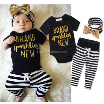 Elegant Kids Clothes Newborn Baby Fashion Clothes Baby Clothing Boutique Clothing Sets