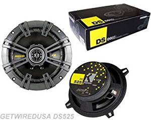 KICKER 5 1/4 2-WAY CAR AUDIO COAXIAL SPEAKERS (PAIR) DS 5.25'' INCH 4-Ohm MIDRANGE DRIVERS 2 MIDS. GETWIREDUSA DS5.25