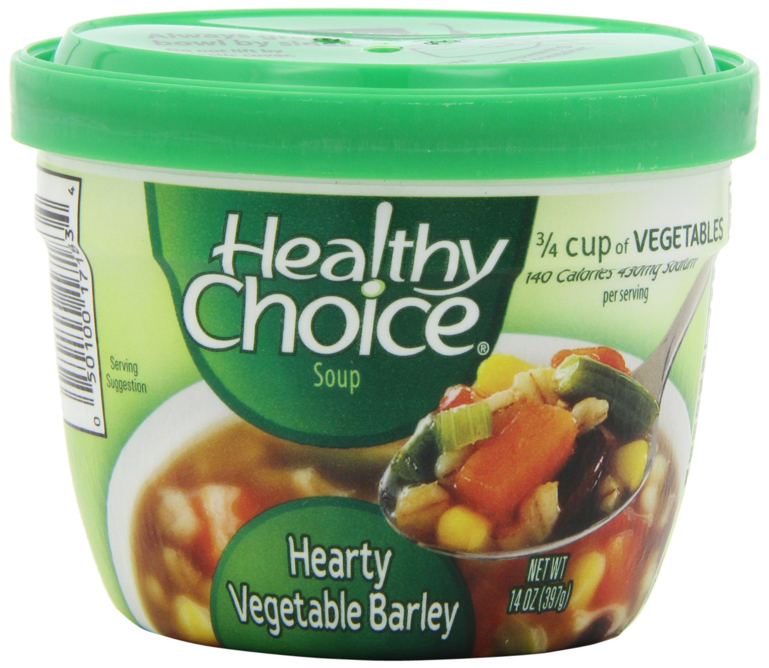 Healthy Choice Hearty Vegetable Barley Soup, 14-Ounce Microwavable Cups (Pack of 12)