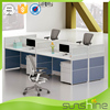 Modular office furniture 4 person workstation desk partition staff room