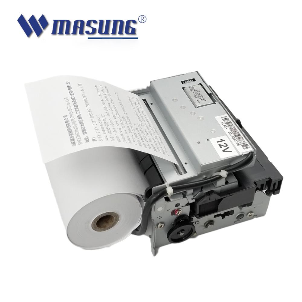 Printer Kode Batang Kios Pencetak Panas 4 Inci Printer Nama Merek 112Mm dengan Pemotong Otomatis untuk Sistem Pembayaran Tagihan