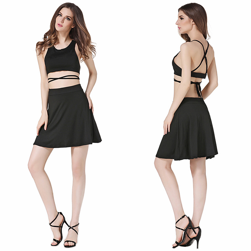 Backless Top With Skirts Women Boutique Summer Pakistan Sexy Picture Women Wear