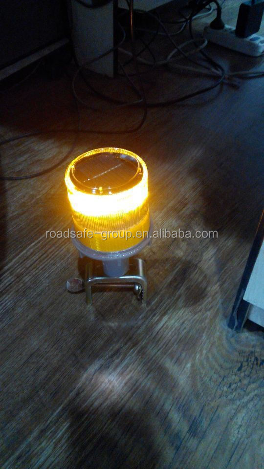 Solar Traffic 12v 24v Amber Strobe Light
