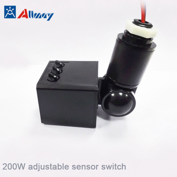 Outdoor Adjule Microwave Motion Sensor Switch 200w Light Delay Time Ip
