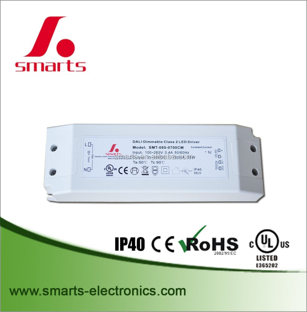 CE/UL/ROHS approved constant current dimmable 32.4w 900ma led dali dimming driver