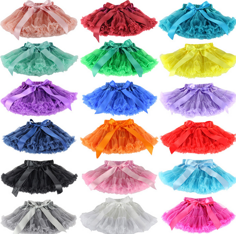new style children's tutus skirt wholesale baby girls cute colorfull tutus