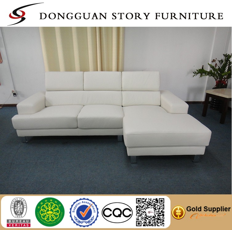 Reversible Sectional Sofa White Bonded Leather Match Sofas: Soft-touch Reversible Bonded Leather Match 3-piece