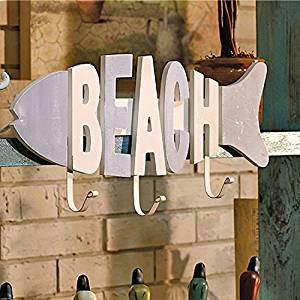 CCWY Mediterranean style reminiscent of the creative do the old wall wooden fish bone-coat hook decorated hooks