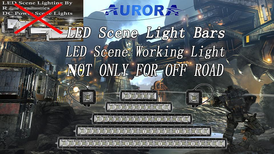 Wholesale big angle scene light bar super brightness as truck parts