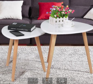 Home Funiture MDF Wooden Sofa Table Teapoy Table