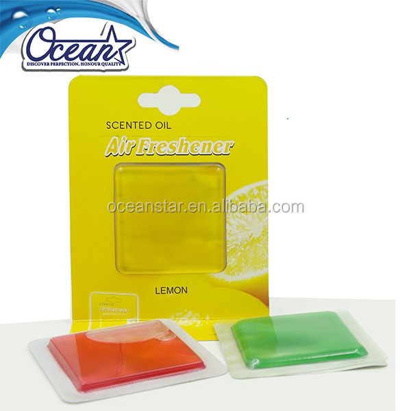 Square shape membrane type glass car or home air freshener