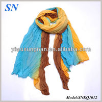 Fancy Rainbow Colorful Voile String Scarf Ladies shawl