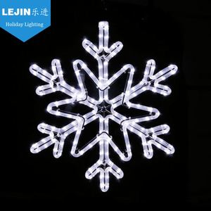 Lejin led rope light Christmas snowflake motif light with white color
