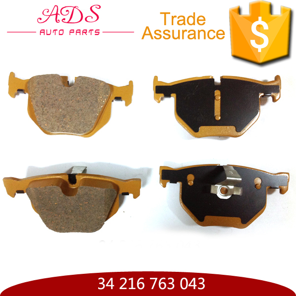 Best selling auto parts rear tractor brake pad 34 216 763 043 for E60/E61