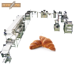 Multifunctional machine for making puff pastry food full automatic production line french corissant for food industries for sale