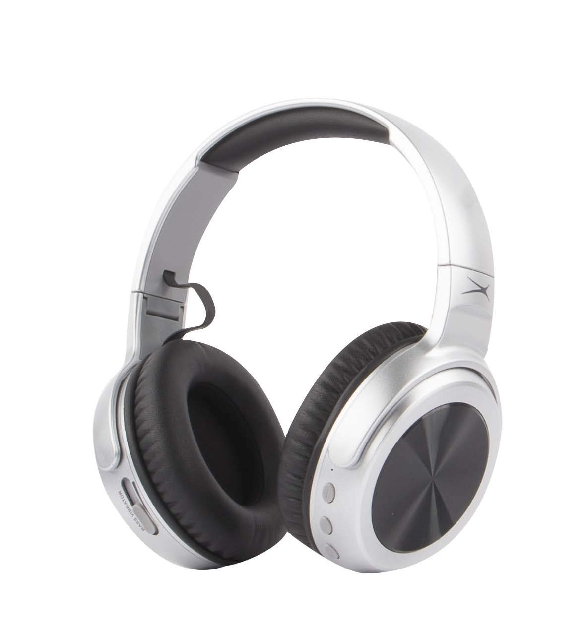 ef87b992602 Altec Lansing MZX701 Rumble Bass Boosted Over Ear Bluetooth Headphones with  Omnidirectional Vibration, 10 Hour