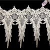 Embroidery Woven Hollow-out Wheatear Pattern white wide bridal lace trim