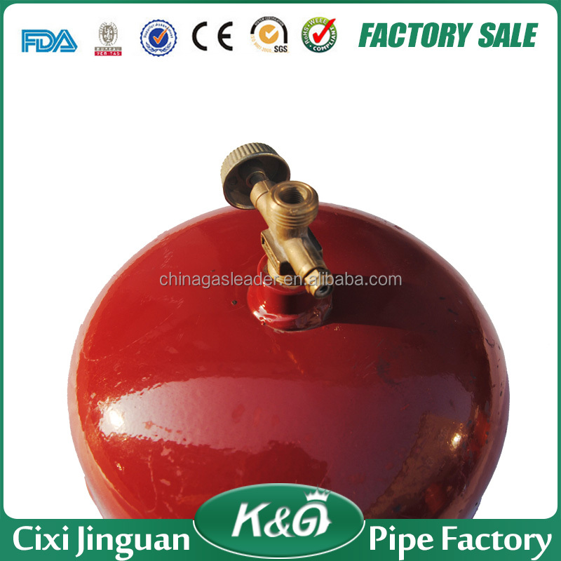 2KG low pressure safety and fashion design gas cylinder, portable mini empty lpg gas cylinder with burner in Kenya, Tanzania