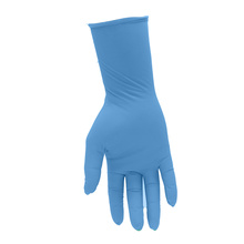 Sterile latex free size embossed medical disposable clear vinyl glove