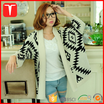 0fc85fe251 Women Long Style Knitting Patterns Sweater Aztec Cardigan - Buy ...
