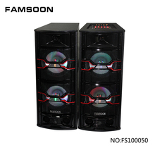 FAMSOON fabriek dubbele 10 inch PA <span class=keywords><strong>DJ</strong></span> systeem actieve <span class=keywords><strong>luidspreker</strong></span>, houten speaker box, super bass draagbare <span class=keywords><strong>luidspreker</strong></span>