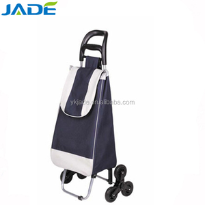 Metal folding shopping trolley with 6 wheels,cheap japan style 3 wheels shopping bag trolley cart oem factory