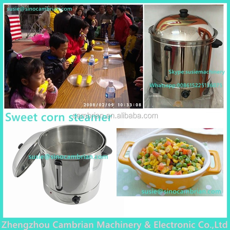 DIY corn used large capacity 48L steam food cooker with auto warmer