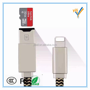 Shenzhen wholesale TF card reader sync charging cable for smartphone phone usb otg cable