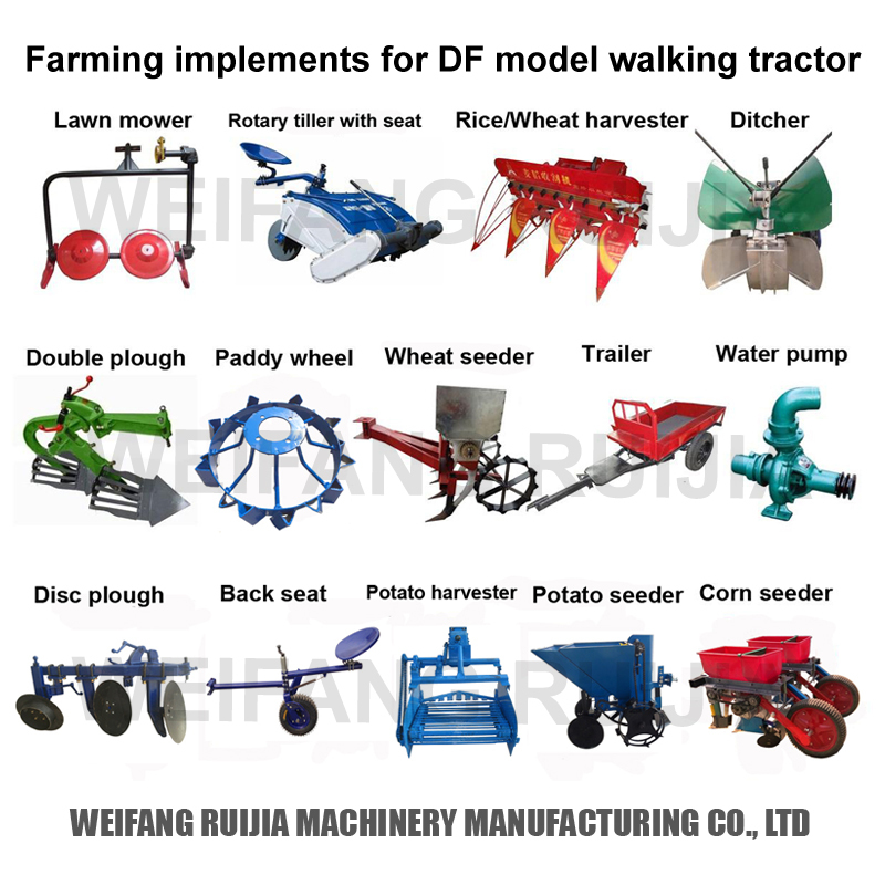 Names Of Parts Of Farm Tractors : Hp walking tractor farming good quality mini