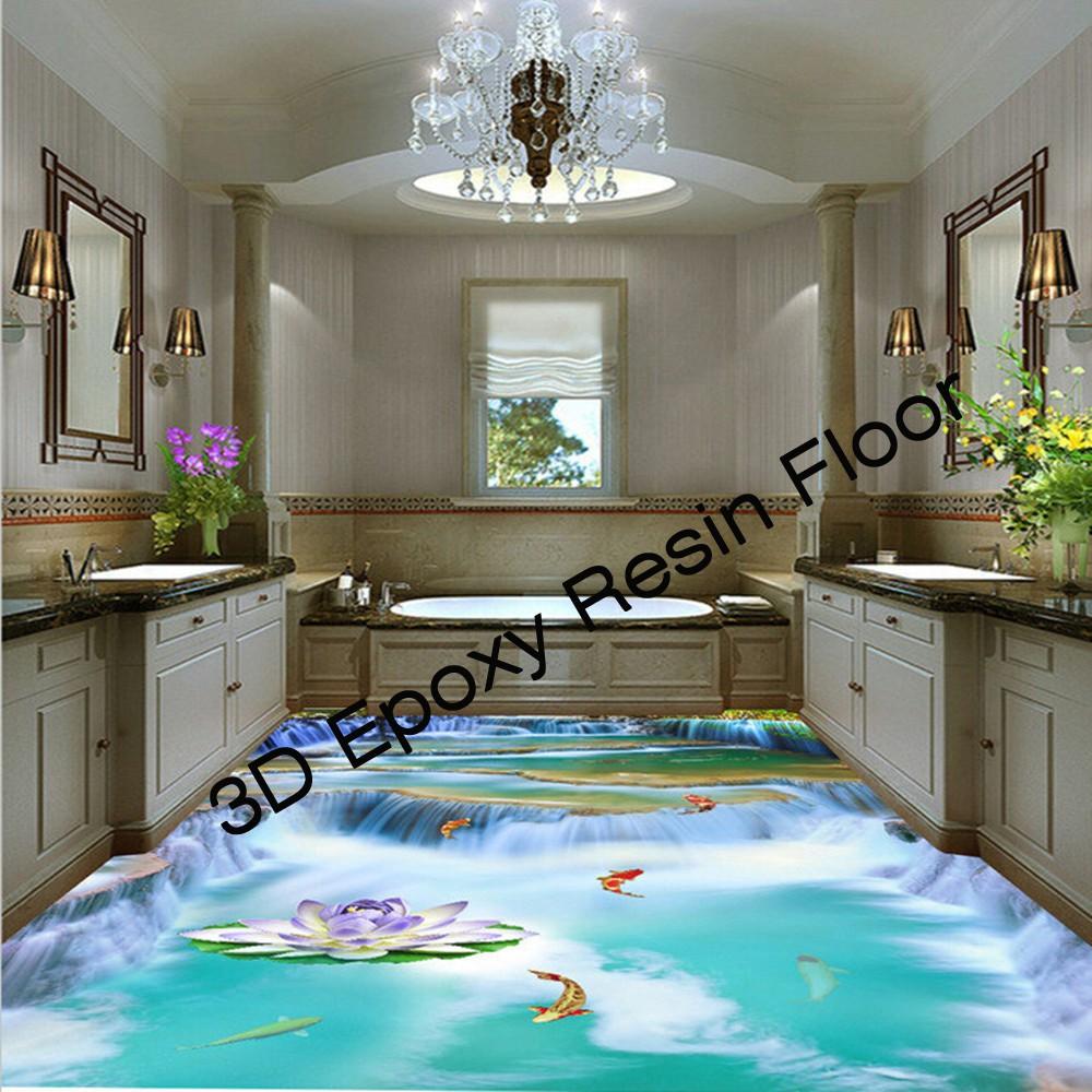 Resin bathroom floor - Scratch Resistant 3d Epoxy Resin Floor For Bathroom