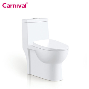 Bathroom Public toilet seat one piece siphonic western toilet price