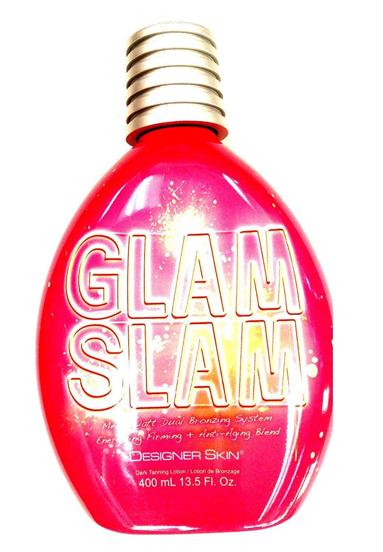 135a4117e Designer Skin Glam Slam Dark Tan Dual Bronzer Indoor Tanning Bed Lotion  13.5 Oz. (