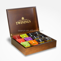 12 compartments twinings tea chest Wooden tea box