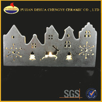 Christmas Decorative Tealight Candle Holders Ceramic Candle House