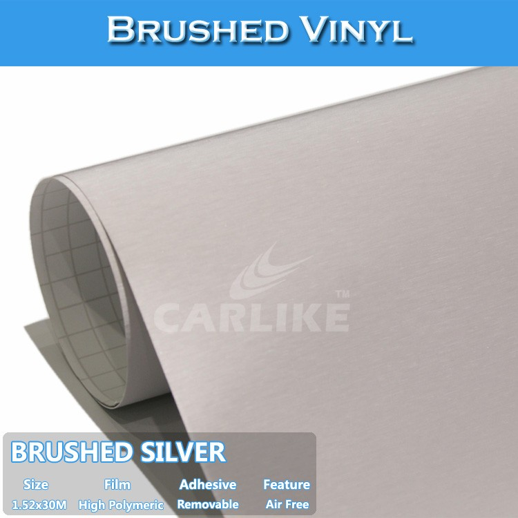 CARLIKE Hot Sales Brushed Silver Auto Body Color Change Film