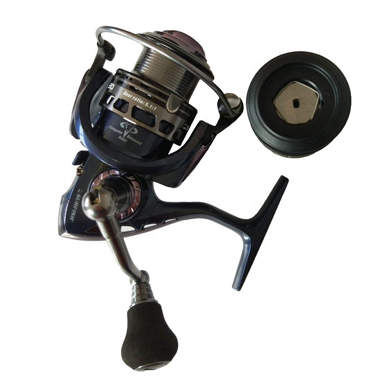 Mental Spinning Reel for Fishing Rod size 2000 3000 4000 5000 6000, Assorted