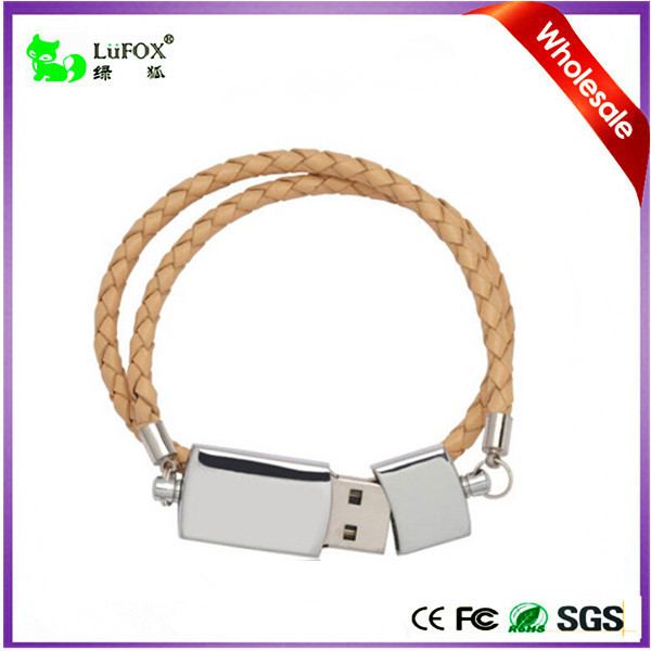 Bracelet USB Flash Drives Personalized Branded Metal & Leather Flash Memory USB