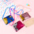 2019 new fashion little girl sequined coin purse mermaid pendant two-color sequined cartoon purse square cross-body coin purse