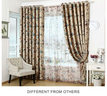 Hotel Supplies 5 Star Luxury Home Curtains Embroidered Living Room