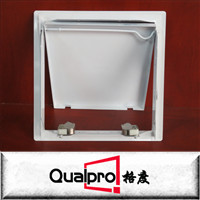 All sizes white painted steel access panel of concealed push lock