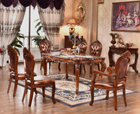6 seater wooden dining table NG5638& NG2885&NG2885A