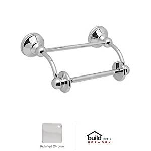 Rohl U.6648APC U.6648 Georgian Era Double Post Toilet Paper Holder with Swinging Arm, Polished Chrome by Rohl