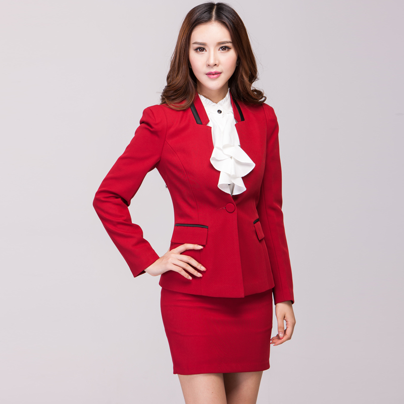 Fashion Women`s Work Wear 2014 Womens Skirt Suits 3XL ...
