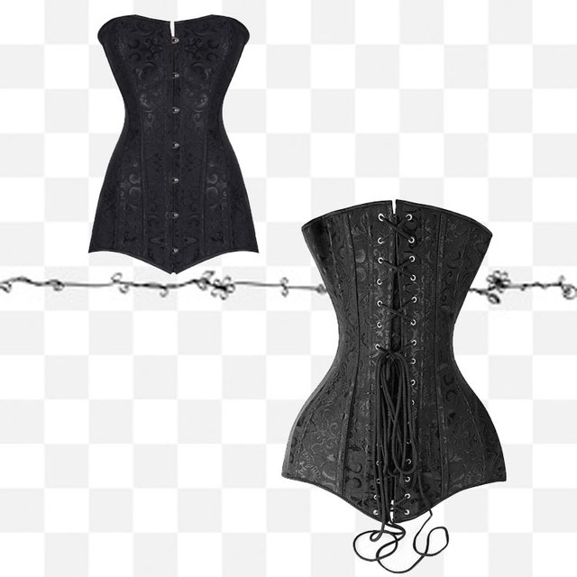 0f291e3182c 2018 New Arrival Long Line Corset Steel Boned Overbust Long Waist Train  Corset Bustiers plus size