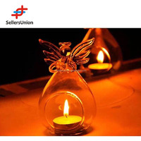 No 1 yiwu agent angel design glass candle holder creative candle holder x-mas candle holder