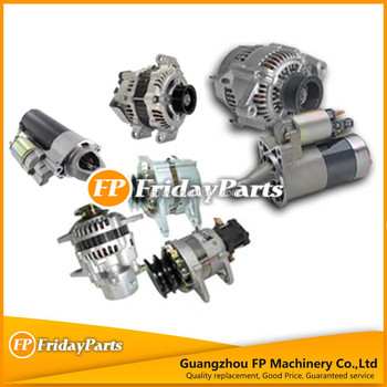 Exvacator spare parts excavator starter and alternator for different excavator