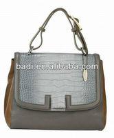 HK fair newest design leather handbag branded handbags handbag manufacturer