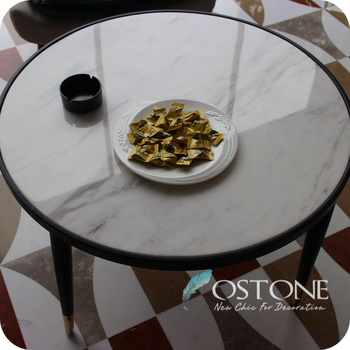 Home Furniture Volakas White Marble Top Round Stone Table Tops With Black  Titanium Plating Base   Buy Stone Table Tops,Round Stone Table Tops,Marble  ...