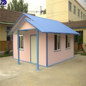 Low cost temporary folding easy assemble container house