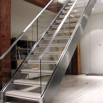Indoor Glass Wood Stair Railing Designs For Timer Staircase Glass Balustrade